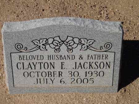 JACKSON, CLAYTON E. - Pima County, Arizona | CLAYTON E. JACKSON - Arizona Gravestone Photos