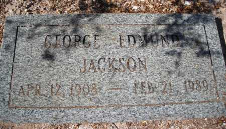 JACKSON, GEORGE EDMUND - Pima County, Arizona   GEORGE EDMUND JACKSON - Arizona Gravestone Photos