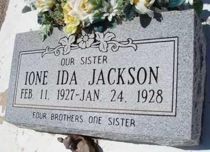 JACKSON, IONE IDA - Pima County, Arizona   IONE IDA JACKSON - Arizona Gravestone Photos