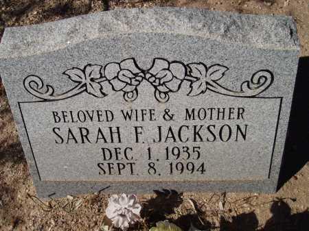 JACKSON, SARAH F. - Pima County, Arizona | SARAH F. JACKSON - Arizona Gravestone Photos