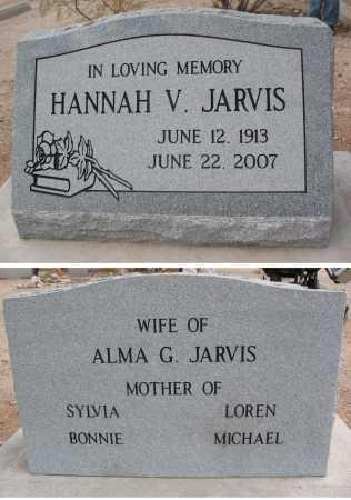 JARVIS, HANNAH V. - Pima County, Arizona | HANNAH V. JARVIS - Arizona Gravestone Photos