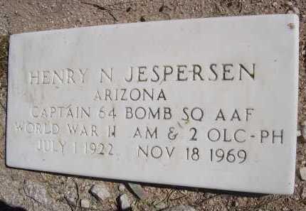 JESPERSEN, HENRY N. - Pima County, Arizona | HENRY N. JESPERSEN - Arizona Gravestone Photos