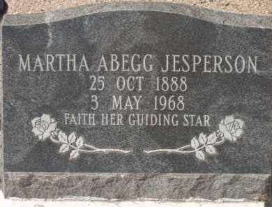 JESPERSON, MARTHA ABEGG - Pima County, Arizona   MARTHA ABEGG JESPERSON - Arizona Gravestone Photos