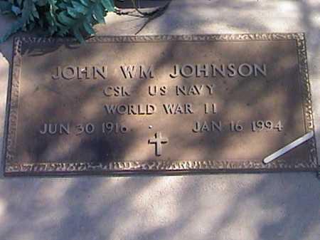 JOHNSON, JOHN WM - Pima County, Arizona | JOHN WM JOHNSON - Arizona Gravestone Photos