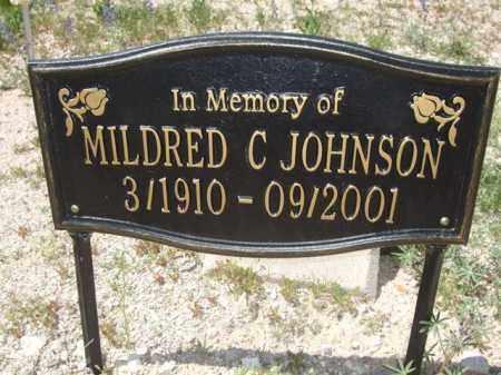 JOHNSON, MILDRED C. - Pima County, Arizona   MILDRED C. JOHNSON - Arizona Gravestone Photos