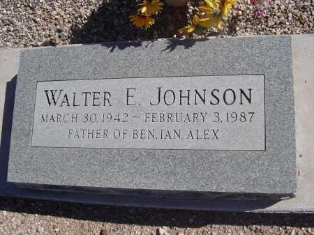 JOHNSON, WALTER E. - Pima County, Arizona | WALTER E. JOHNSON - Arizona Gravestone Photos