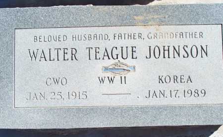JOHNSON, WALTER TEAGUE - Pima County, Arizona | WALTER TEAGUE JOHNSON - Arizona Gravestone Photos