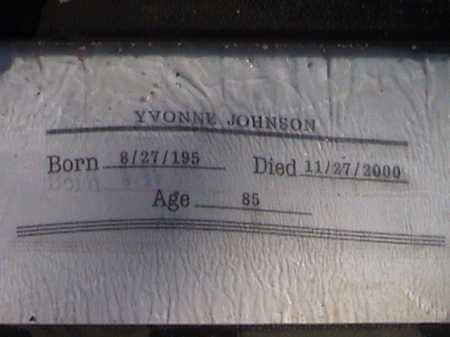 JOHNSON, YVONNE - Pima County, Arizona | YVONNE JOHNSON - Arizona Gravestone Photos