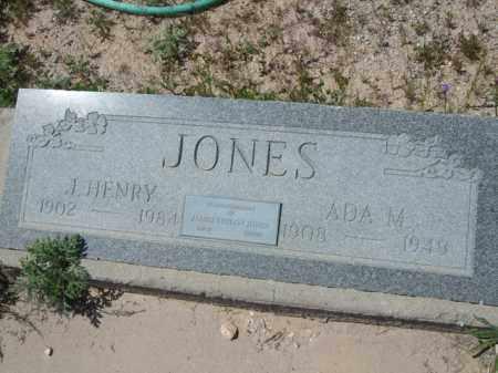 JONES, J. HENRY - Pima County, Arizona | J. HENRY JONES - Arizona Gravestone Photos