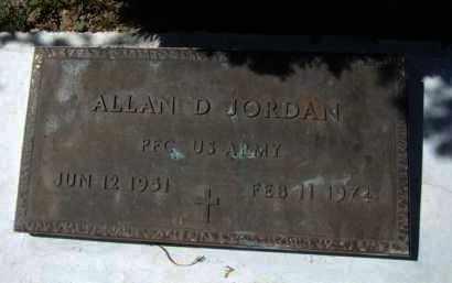 JORDAN, ALLAN D. - Pima County, Arizona | ALLAN D. JORDAN - Arizona Gravestone Photos