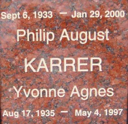 KARRER, YVONNE AGNES - Pima County, Arizona | YVONNE AGNES KARRER - Arizona Gravestone Photos