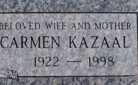 KAZAAL, CARMEN - Pima County, Arizona | CARMEN KAZAAL - Arizona Gravestone Photos