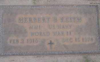 KEITH, HERBERT B. - Pima County, Arizona | HERBERT B. KEITH - Arizona Gravestone Photos