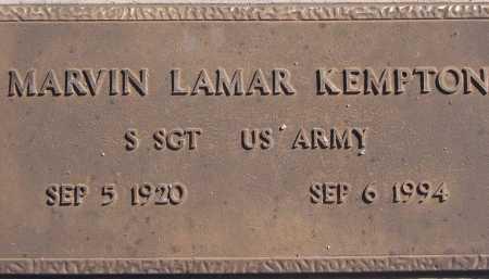 KEMPTON, MARVIN LAMAR - Pima County, Arizona   MARVIN LAMAR KEMPTON - Arizona Gravestone Photos