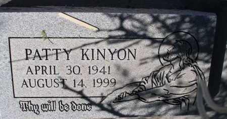 KINYON, PATTY - Pima County, Arizona   PATTY KINYON - Arizona Gravestone Photos