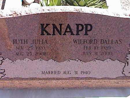 KNAPP, RUTH JULIA - Pima County, Arizona | RUTH JULIA KNAPP - Arizona Gravestone Photos