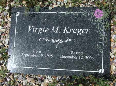 KREGER, VIRGIE M. - Pima County, Arizona | VIRGIE M. KREGER - Arizona Gravestone Photos