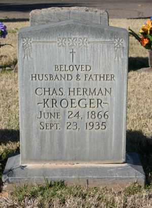 KROEGER, CHARLES HERMAN - Pima County, Arizona | CHARLES HERMAN KROEGER - Arizona Gravestone Photos