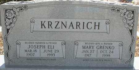 KRZNARICH, JOSEPH ELI - Pima County, Arizona | JOSEPH ELI KRZNARICH - Arizona Gravestone Photos