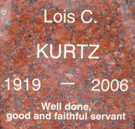 KURTZ, LOIS C. - Pima County, Arizona | LOIS C. KURTZ - Arizona Gravestone Photos