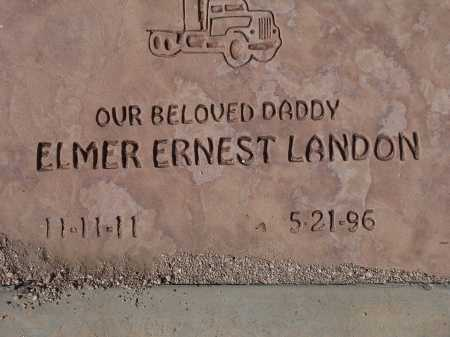 LANDON, ELMER ERNEST - Pima County, Arizona | ELMER ERNEST LANDON - Arizona Gravestone Photos