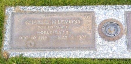 LEMONS, CHARLES M. - Pima County, Arizona | CHARLES M. LEMONS - Arizona Gravestone Photos