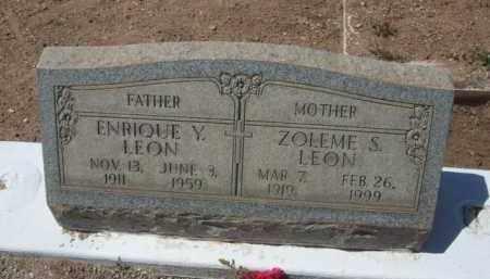 LEON, ZOLEME S. - Pima County, Arizona | ZOLEME S. LEON - Arizona Gravestone Photos