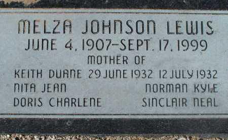 LEWIS, MELZA JOHNSON - Pima County, Arizona | MELZA JOHNSON LEWIS - Arizona Gravestone Photos