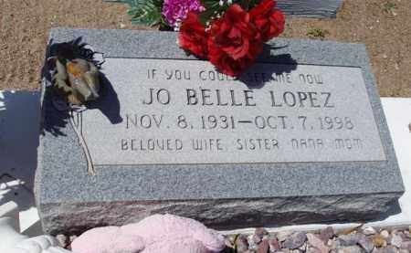 LOPEZ, JO BELLE - Pima County, Arizona | JO BELLE LOPEZ - Arizona Gravestone Photos