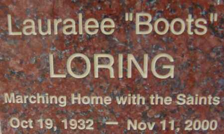 "LORING, LAURALEE ""BOOTS"" - Pima County, Arizona | LAURALEE ""BOOTS"" LORING - Arizona Gravestone Photos"