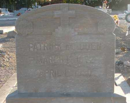 MADDEN, PATRICK - Pima County, Arizona | PATRICK MADDEN - Arizona Gravestone Photos