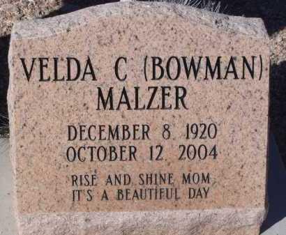 MALZER, VELDA C - Pima County, Arizona | VELDA C MALZER - Arizona Gravestone Photos