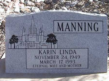 MANNING, KARIN LINDA - Pima County, Arizona | KARIN LINDA MANNING - Arizona Gravestone Photos