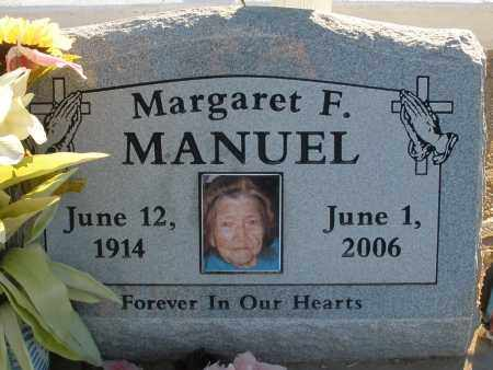 MANUEL, MARGARET F. - Pima County, Arizona   MARGARET F. MANUEL - Arizona Gravestone Photos