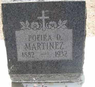 MARTINEZ, POFIRA D. - Pima County, Arizona | POFIRA D. MARTINEZ - Arizona Gravestone Photos