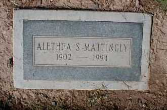 MATTINGLY, ALETHEA S. - Pima County, Arizona | ALETHEA S. MATTINGLY - Arizona Gravestone Photos