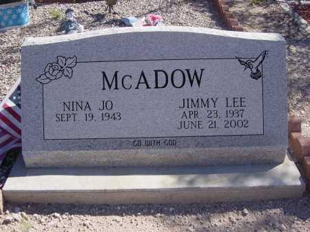 MCADOW, NINA JO - Pima County, Arizona | NINA JO MCADOW - Arizona Gravestone Photos