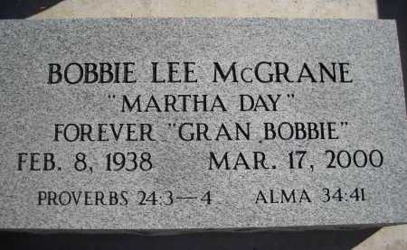 MCGRANE, BOBBIE LEE - Pima County, Arizona | BOBBIE LEE MCGRANE - Arizona Gravestone Photos