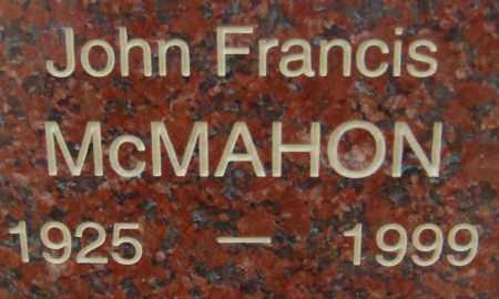 MCMAHON, JOHN FRANCIS - Pima County, Arizona   JOHN FRANCIS MCMAHON - Arizona Gravestone Photos