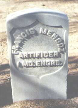 MENGOZ, FRANCIS - Pima County, Arizona | FRANCIS MENGOZ - Arizona Gravestone Photos