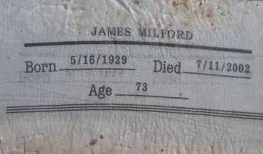 MILFORD, JAMES - Pima County, Arizona | JAMES MILFORD - Arizona Gravestone Photos