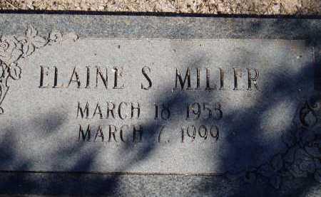 MILLER, ELAINE S. - Pima County, Arizona | ELAINE S. MILLER - Arizona Gravestone Photos