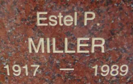 MILLER, ESTEL P. - Pima County, Arizona   ESTEL P. MILLER - Arizona Gravestone Photos