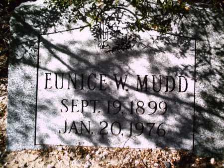 MUDD, EUNICE W. - Pima County, Arizona   EUNICE W. MUDD - Arizona Gravestone Photos