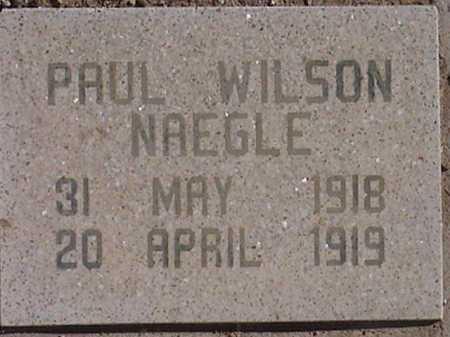 NAEGLE, PAUL WILSON - Pima County, Arizona | PAUL WILSON NAEGLE - Arizona Gravestone Photos