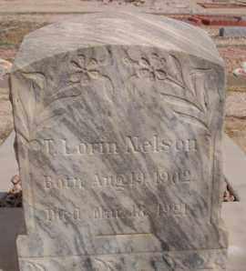 NELSON, T. LORIN - Pima County, Arizona   T. LORIN NELSON - Arizona Gravestone Photos
