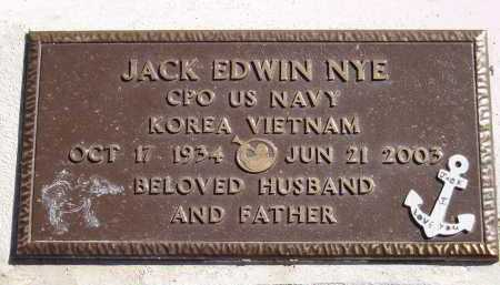 NYE, JACK EDWIN - Pima County, Arizona   JACK EDWIN NYE - Arizona Gravestone Photos