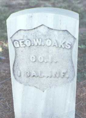OAKS, GEORGE W. - Pima County, Arizona   GEORGE W. OAKS - Arizona Gravestone Photos