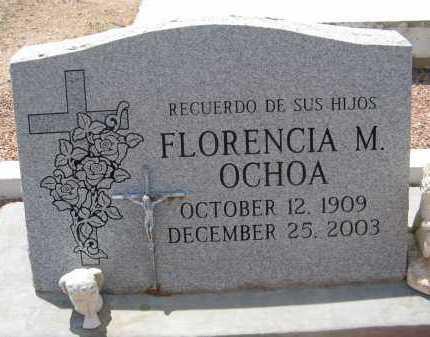 MARTINEZ OCHOA, FLORENCIA M. - Pima County, Arizona   FLORENCIA M. MARTINEZ OCHOA - Arizona Gravestone Photos