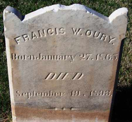 OURY, FRANCIS W. - Pima County, Arizona | FRANCIS W. OURY - Arizona Gravestone Photos